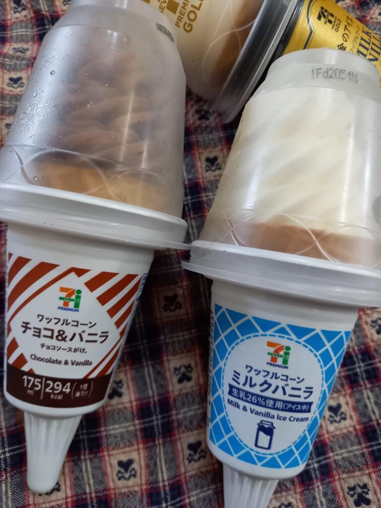 チョコ&バニラとミルクバニラアイス